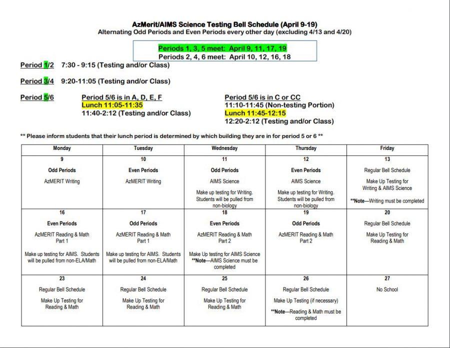 AZMerit Block Schedule