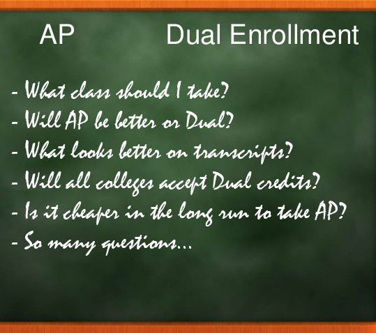 AP vs Dual Enrollment
