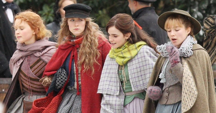 *EXCLUSIVE*  - Emma Watson, Florence Pugh, Saoirse Ronan and Eliza Scanlen are seen filming scenes for