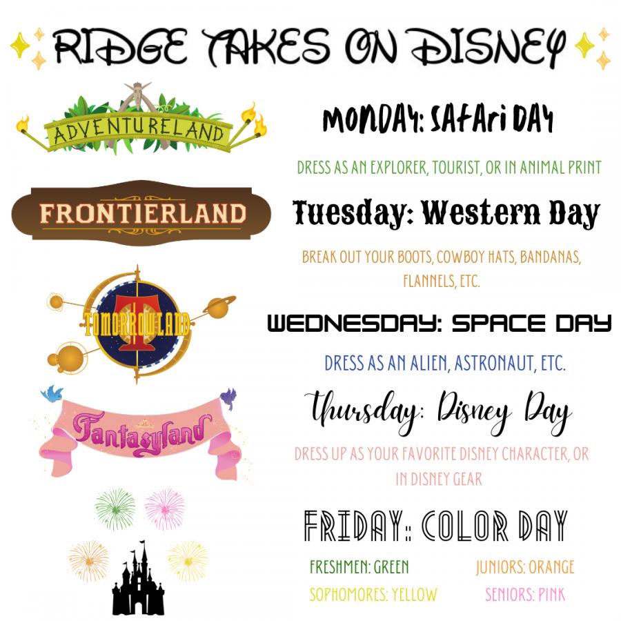 Ridge Spirit Week! (Nov. 16-20)