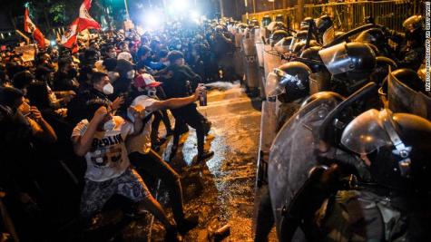 A Photo Depicting the Riots in Peru