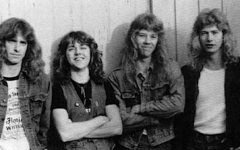 Metallica in it's early days with Dave Mustaine