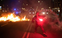 A rioter in Spain